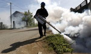 Spraying against Zika in Indonesia.