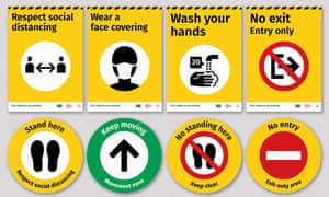 Infographics from the Covid-19 DesignToolkit created by the Applied wayfinding agency