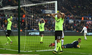 John Egan is not the only Sheffield United with his head in his hands after a missed chance in the dying seconds sealed their defeat at Swansea.