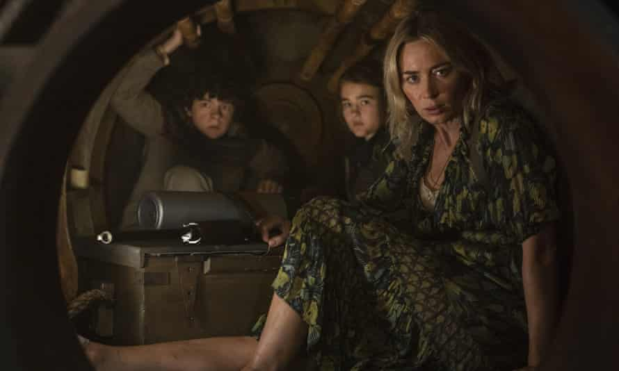 Noah Jupe, Millicent Simmonds and Emily Blunt in the 'slick' A Quiet Place Part II.