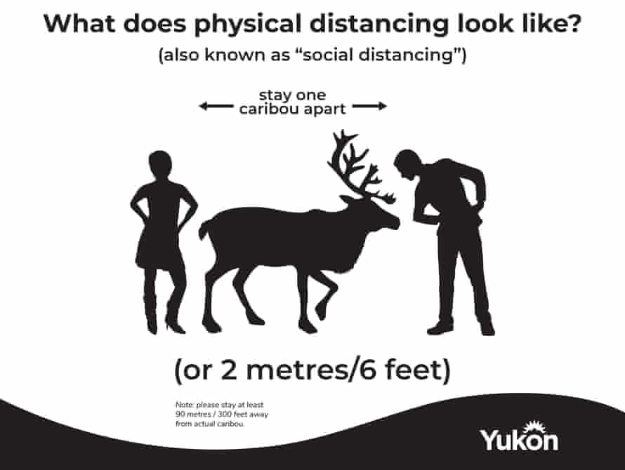 Yukon is making the news with its physical distancing awareness campaign.