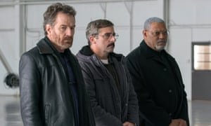 Sailing off course … Bryan Cranston, Steve Carell and Laurence Fishburne in Last Flag Flying.