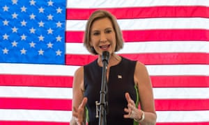 Republican presidential candidate Carly Fiorina campaigning at the Goffstown Republicans annual picnic in New Hampshire in August.