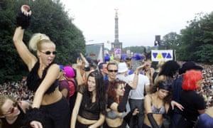 Revellers at Berlin's Love Parade festival, 2000
