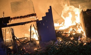 A fire tears through Beechmere supported living complex