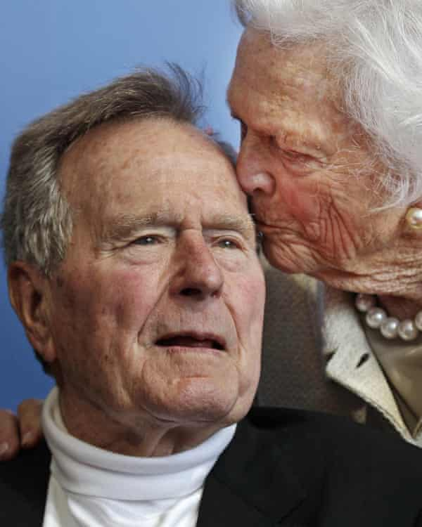 Barbara and George Bush in 2012. They were married for 73 years.