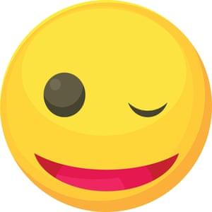 Winking smiley icon,