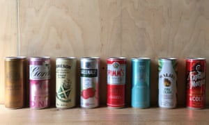 Dale's selection of canned cocktails.