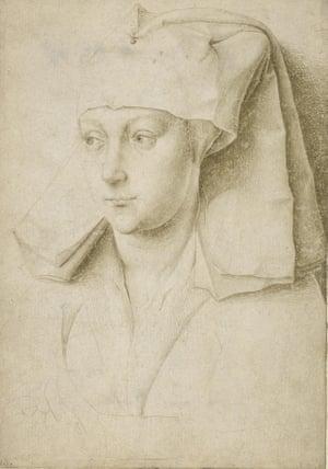Rogier van der Weyden, Portrait of an unknown young woman, c 1435