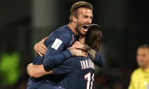 David Beckham played with Zlatan Ibrahimovic at PSG