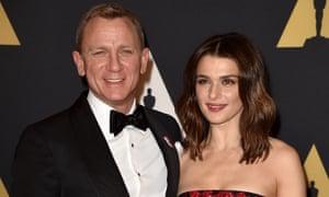 Actors Daniel Craig and Rachel Weisz.