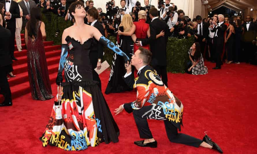 Katy Perry and Jeremy Scott attend the China: Through The Looking Glass Gala at the Metropolitan Museum of Art in May 2015