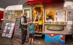 Viking Soul Food trailer at the Good Food Here food carts pod on Belmont Street, south-east Portland.