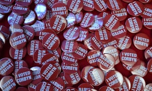 Campaign badges Jeremy Corbyn.