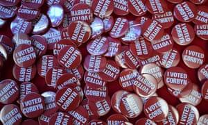 Campaign badges Jeremy Corbyn.