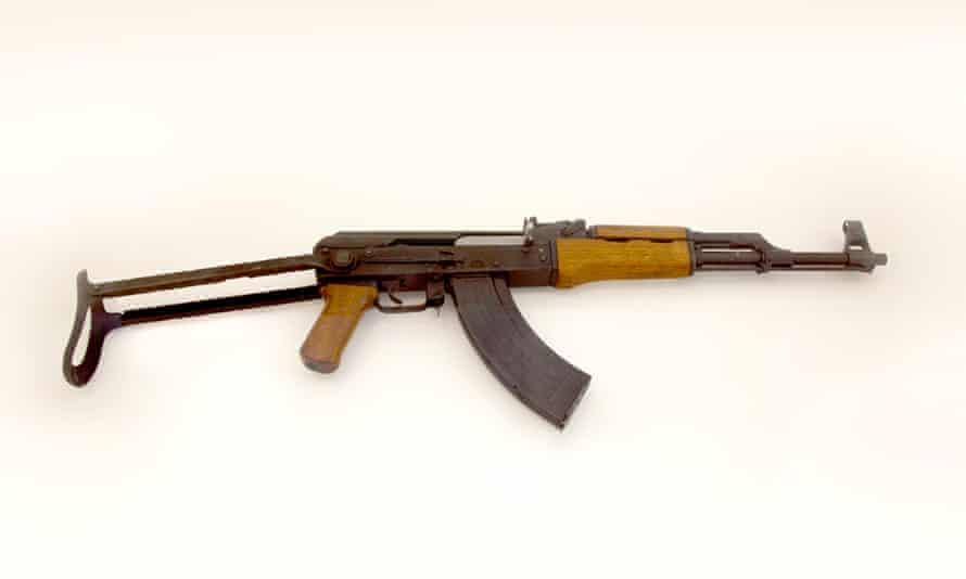 Mikhail Kalashnikov's AK47 assault rifle.