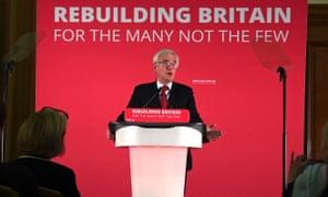 John Mcdonnell addresses an audience