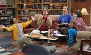 Geeks gone wild: Kunal Nayyar, Johnny Galecki, Jim Parsons and Simon Helberg in The Big Bang Theory.