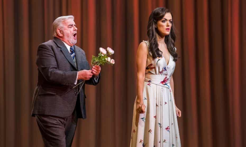 Alan Opie as Giorgio with Boyle in La Traviata.