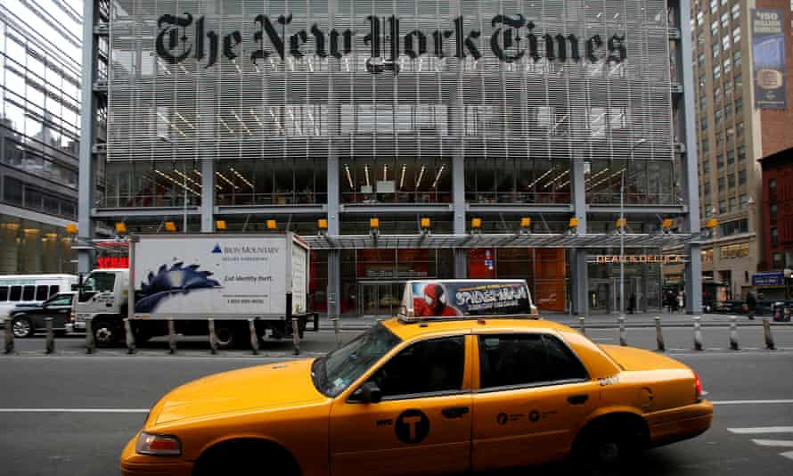 The New York Times head office in New York