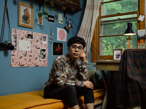 Ocean Vuong at home in Northampton, Massachusetts.