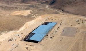 The Tesla Gigafactory during construction. Nevada gave the company $1.3bn in tax benefits.