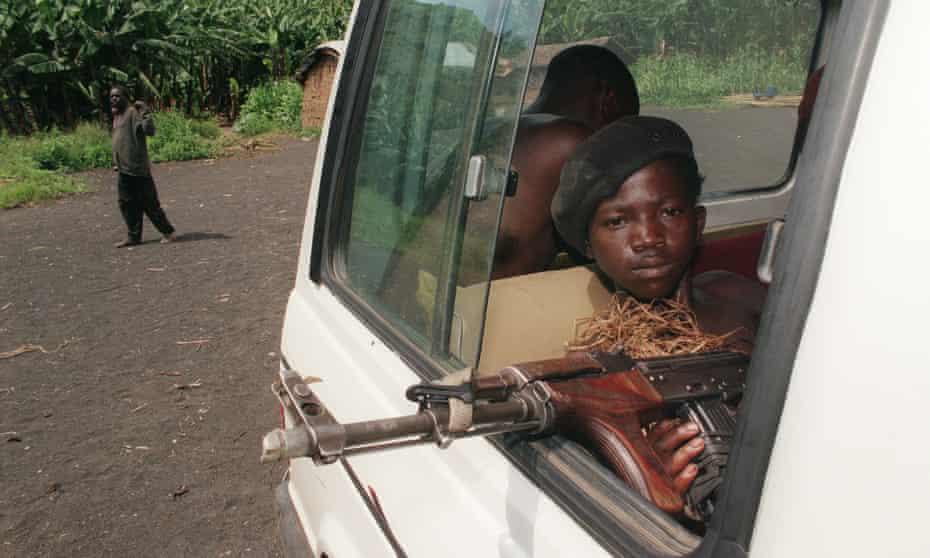 A child soldier near Goma, Democratic Republic of the Congo, 1996
