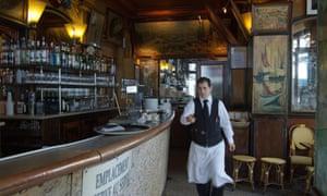 waiter at the Cafe La Palette Paris France