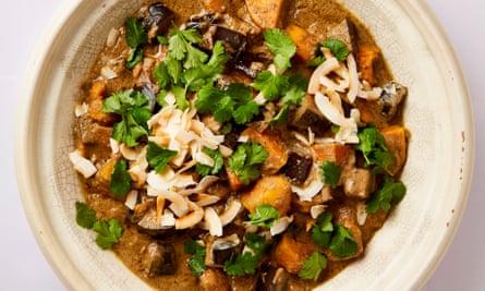 Meera Sodha's sweet potato and aubergine massaman curry.