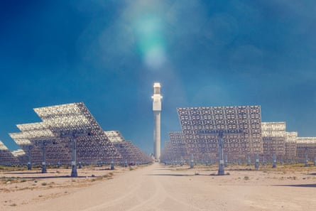 'A fabulous alien metropolis': Crescent Dunes in Nevada.