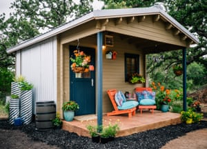 A village of tiny homes ranging from prefab houses, to RVs and canvas-sided homes in Austin, Texas. It's run by Mobile Loaves & Fishes, a local charity targeting homelessness