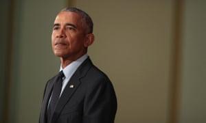Still listening … former US president Barack Obama.