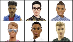 Mattel shows off a variety of Ken dolls now available. The company says it wants the classic toy to reflect a changing world.