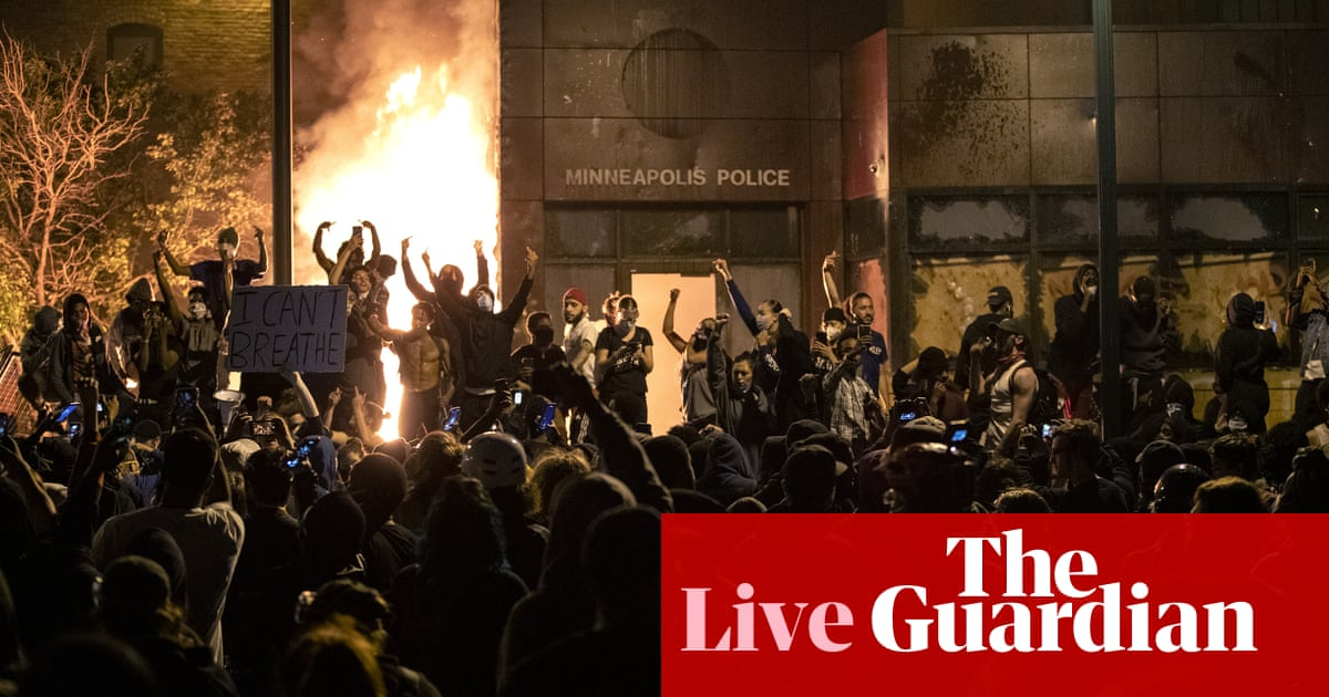 George Floyd killing: journalist arrested while reporting on Minneapolis protest; Trump calls protesters 'thugs' - as it happened
