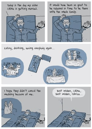 A page from Hostage by Guy Delisle.