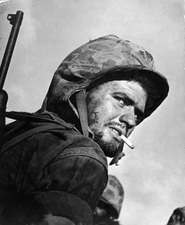 A US soldier during the final days of fighting to gain control of the island of Saipan from occupying Japanese forces during the second world war.
