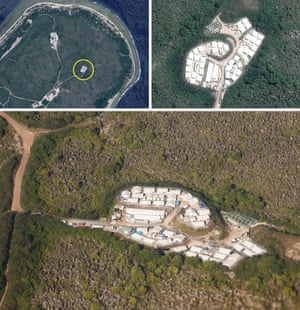 Picture shows one of the asylum seeker detention facilities on Nauru.