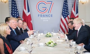 Boris Johnson meets Donald Trump.