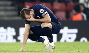 Harry Kane was forced off against Southampton.