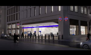 CGI of planned new Bank station entrance in Cannon Street