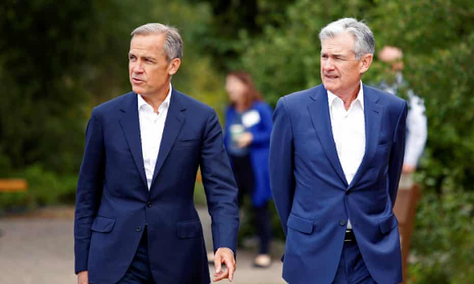 Mark Carney with Jerome Powell on Friday