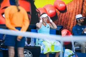 Sam Stosur tries to concentrate.