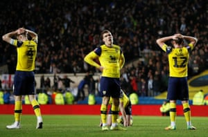 Dejection for the Oxford players.