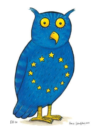 Axel Scheffler's owl is a proposed coat of arms for the EU.