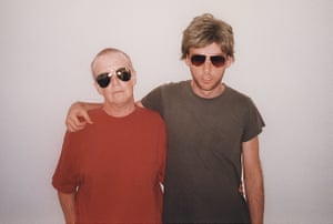Moby with his mother, wearing her chemotherapy wig, in New York, 1997