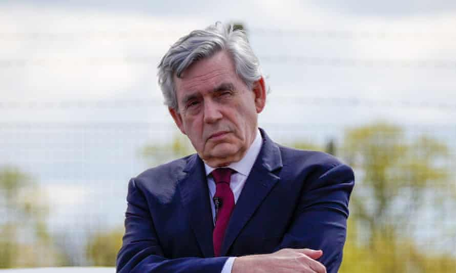 Gordon Brown at Scottish Labour outdoor rally in May.