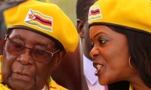 Mugabe and his wife, Grace