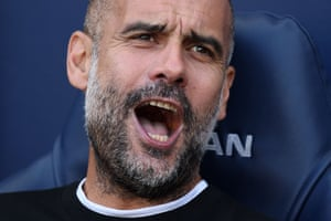 Spanish manager of Manchester City Pep Guardiola.