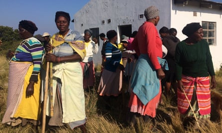 Villagers leaving a protest meeting in Xolobeni, South Africa, which eventually won a court ruling against a massive titanium mining project.