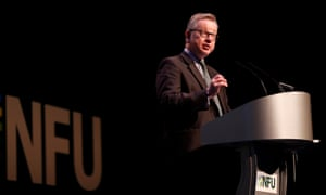Michael Gove speaks at the National Farmers Union conference in February